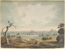 View of Mysore from Rayakottai (Mysore). 5 March 1799